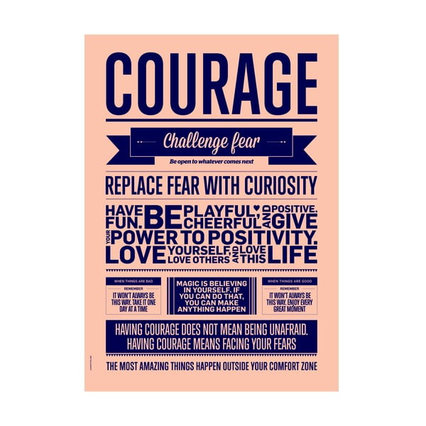 Plakat autorski Courage, A3