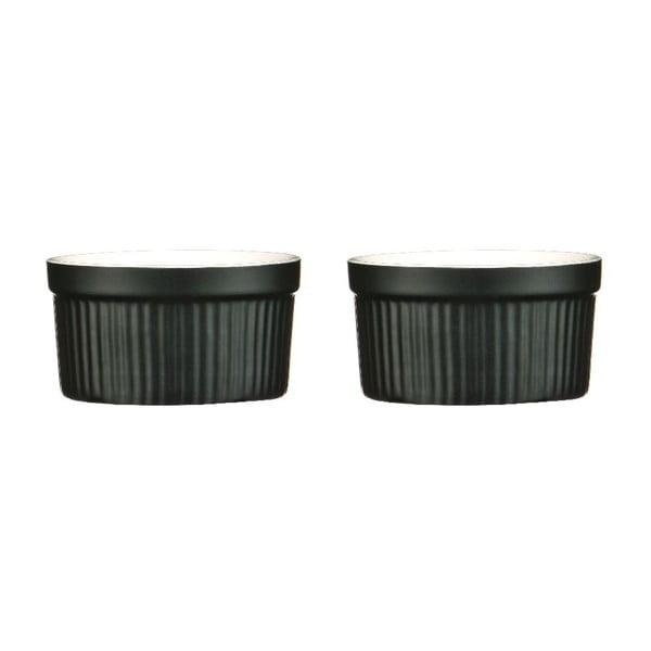 Zestaw 2 naczyń do zapiekania Black Stoneware
