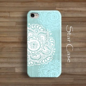 Etui na iPhone 4/4S Floral Blue