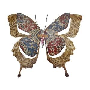 Metalowy motyl na ścianę Copper, 29 cm