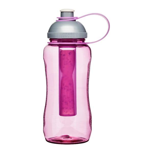 Butelka z wkładką chłodzącą Sagaform, różowa