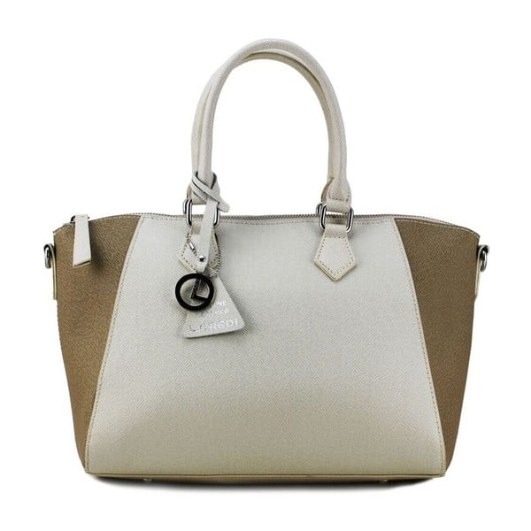 Skórzana torebka Gabrielle Beige/Taupe