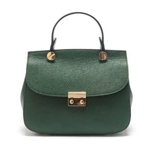 Zielona skórzana torebka Sofia Cardoni Fabiana