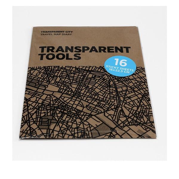 Zapasowe przezroczyste kartki do map Transparent City