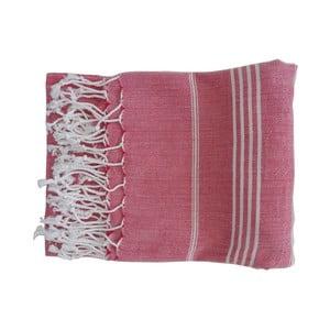 Czerwony ręcznie tkany ręcznik z bawełny premium Sultan,100x180 cm