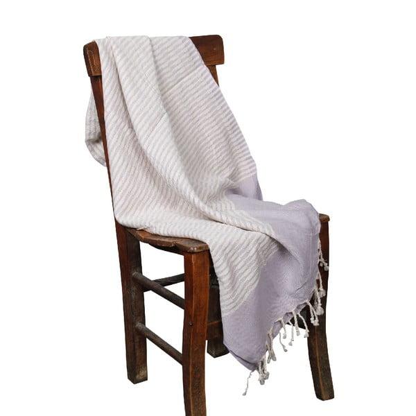 Jasnofioletowy ręcznik hammam Yummy Lilac, 90x190cm