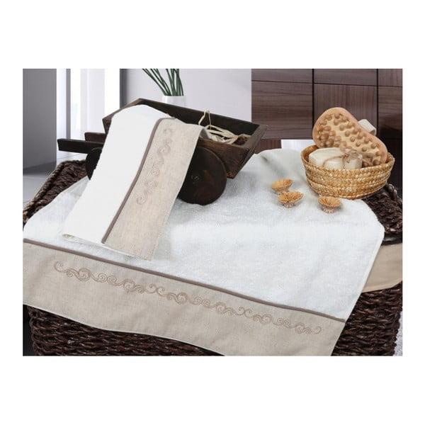 Zestaw 2 waniliowych ręczników Irya Home Spa, 30x50 cm i 50x90 cm