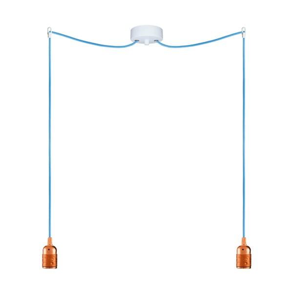 Dwa wiszące kable Uno, miedziany/niebieski
