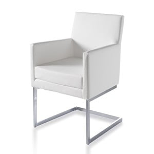 Biały fotel Ángel Cerdá Leta