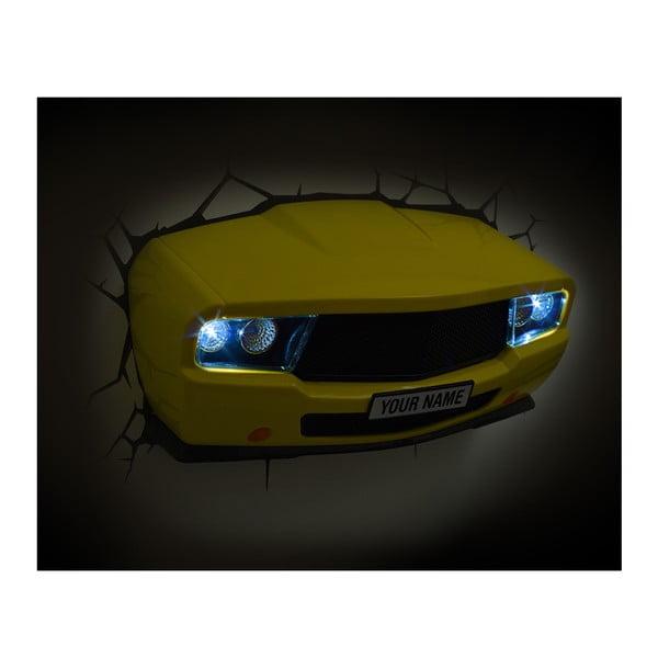 Kinkiet z naklejką Yellow Muscle Car