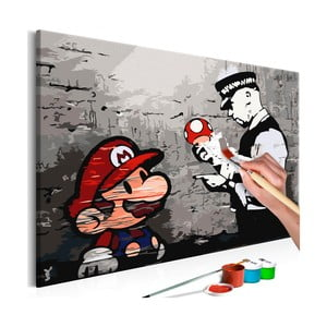 Zestaw płótna, farb i pędzli DIY Artgeist Mario, 60x40 cm