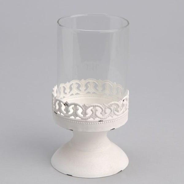 Świecznik Lace White, 8x8x15 cm
