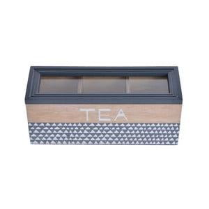 Skrzyneczka na herbatę Tea, niebieska
