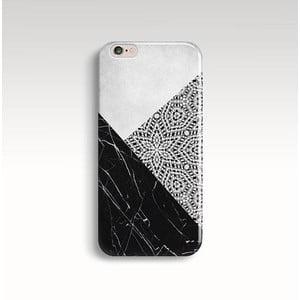 Etui na telefon Marble Mandala Black na iPhone 6/6S