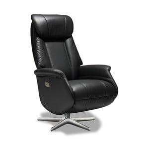 Czarne krzesło skórzane Knuds Donanza