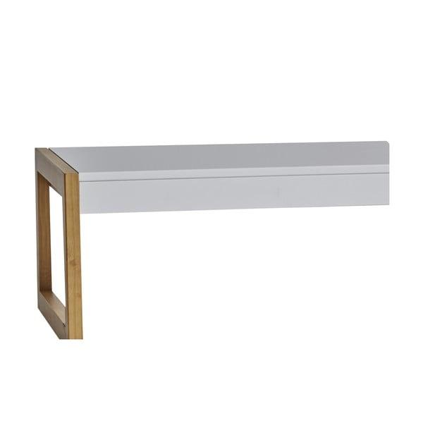 Biały stolik Marckeric Square, 120x35 cm