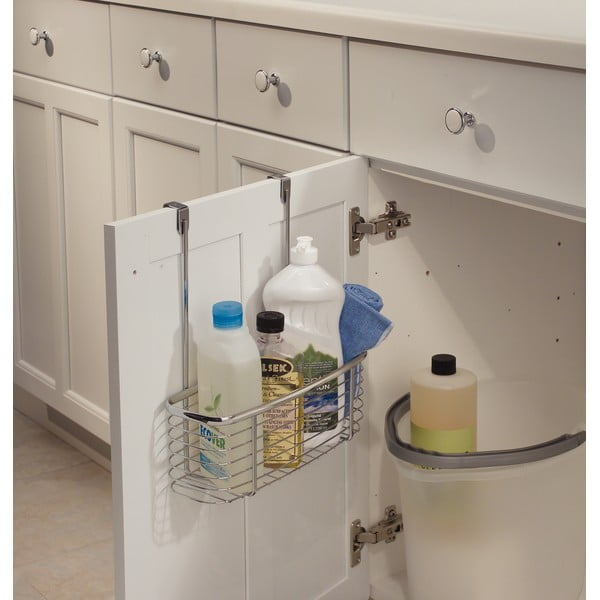 Metalowy koszyk na drzwi szafek kuchennych InterDesign Axis Basket