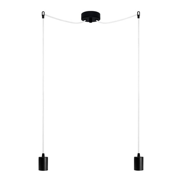 Lampa wisząca podwójna Cero, czarny/biały/czarny