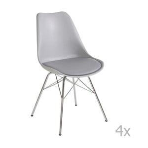 Zestaw 4 szarych krzeseł 13Casa Brigitte