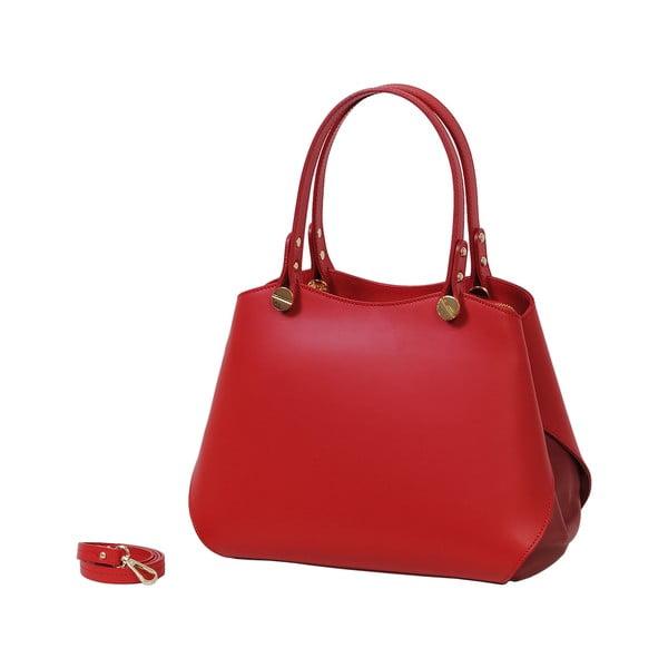 Czerwona torebka skórzana Andrea Cardone Sante