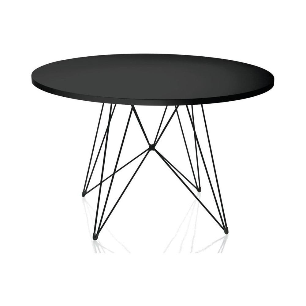 Czarny stół Magis Bella, ø 120cm