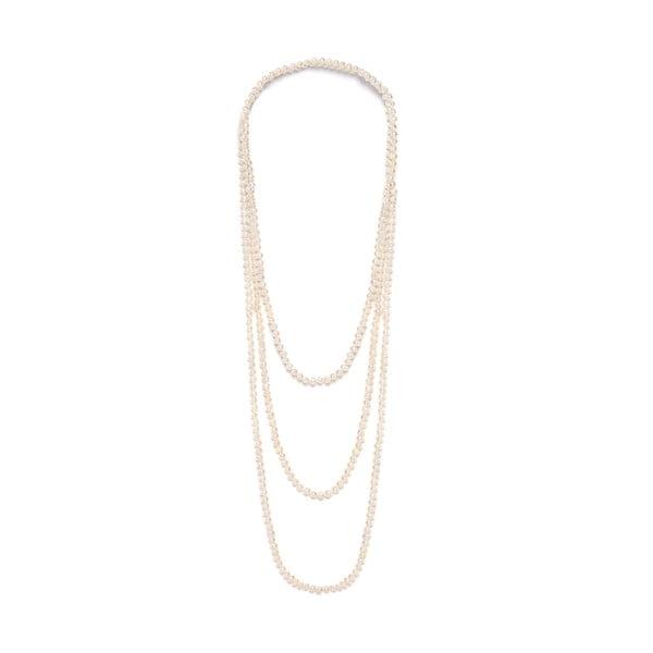 Jasny naszyjnik z pereł słodkowodnych Fresh 250 cm