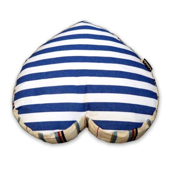 Poduszka Lona Heart, niebieska