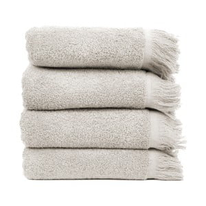 Komplet 4 szarych ręczników Casa Di Bassi, 50x90 cm