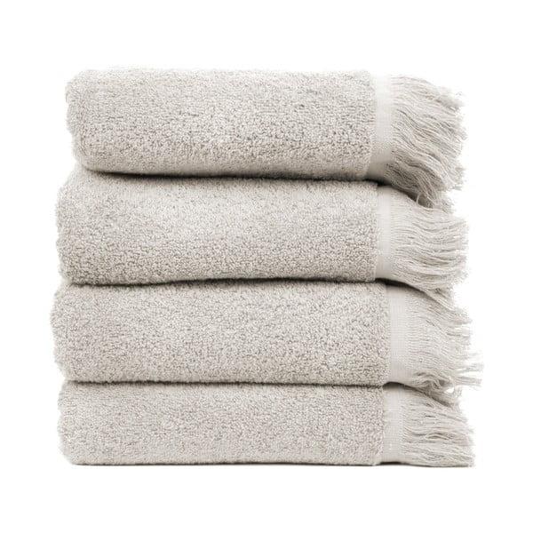 Komplet 4 jasnoszarych ręczników bawełnianych Casa Di Bassi, 50x90 cm