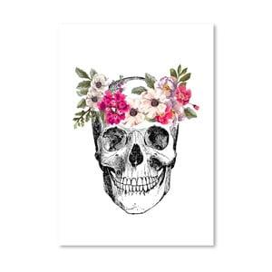 Plakat Americanflat Skull, 30x42 cm
