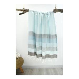 Ręcznik hammam Strip Style Mint Green, 90x180 cm