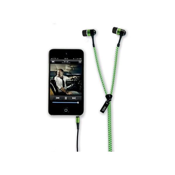 Słuchawki hi-Zip, zielone