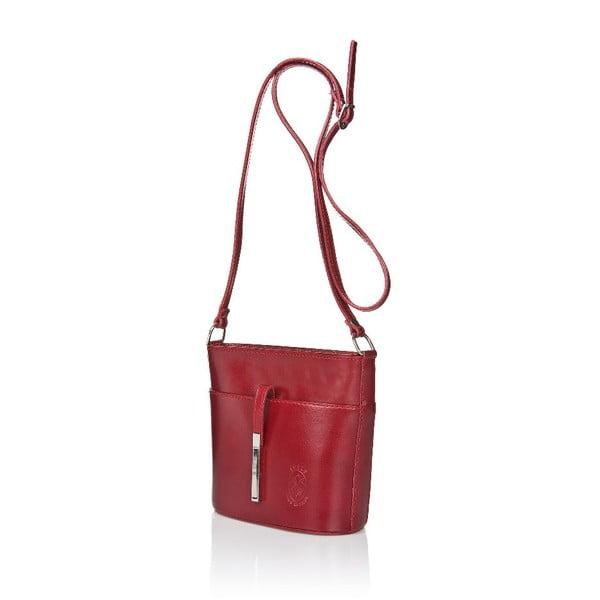 Czerwona torebka skórzana Markese Calf Mini