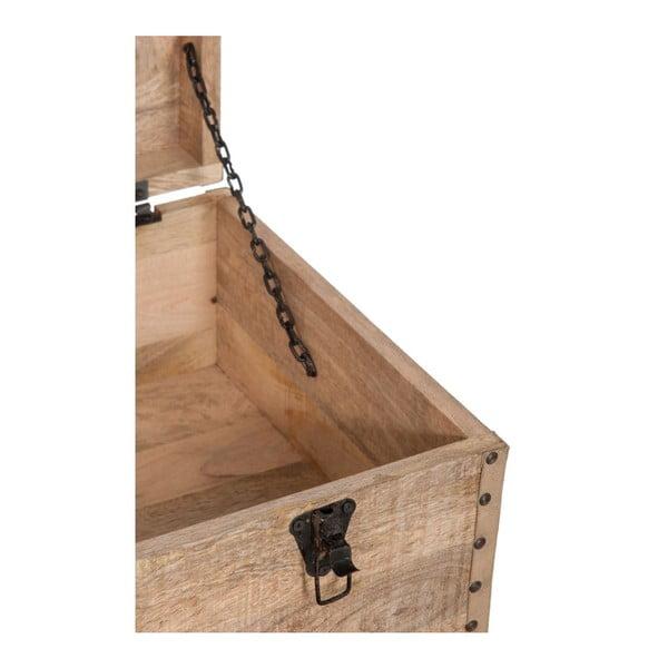 Skrzynia na kółkach Wood Natural, 90x40x60 cm