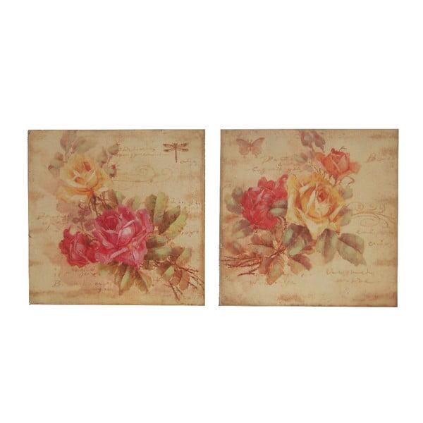 Zestaw 2 obrazów Antic Line Natural Flowers
