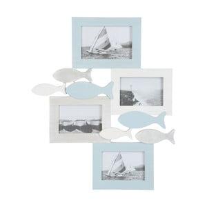 Ramka na 4 zdjęcia Fish Blue, 40x49 cm