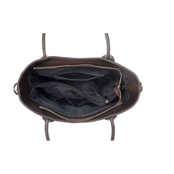 Skórzana torebka Yes Dark Brown