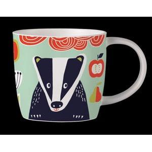 Kubek z angielskiej porcelany Folkland Badger