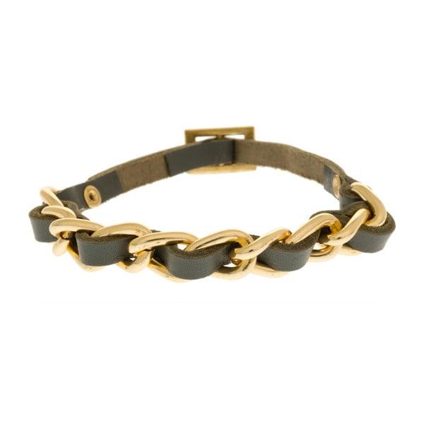 Bransoletka Leather Weave, złota