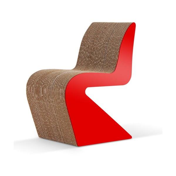Kartonowe krzesło Amanda Red