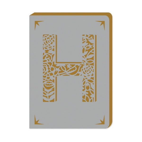 Notatnik w linie A6 z monogramem Portico Designs H, 160str.
