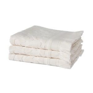 Zestaw 3 kremowych ręczników z organicznej bawełny Seahorse,60x110cm