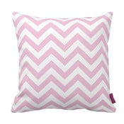 Różowo-biała   poduszka Zig Zag Pink, 43x43cm