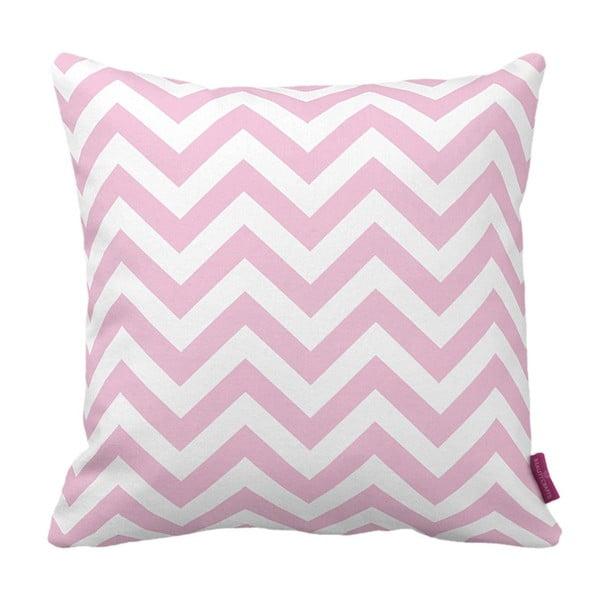 Różowo-biała  poduszka Homemania Zig Zag Pink, 43x43cm
