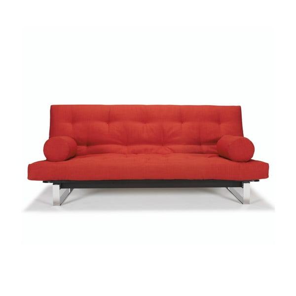 Czerwona sofa rozkładana Innovation Minimum