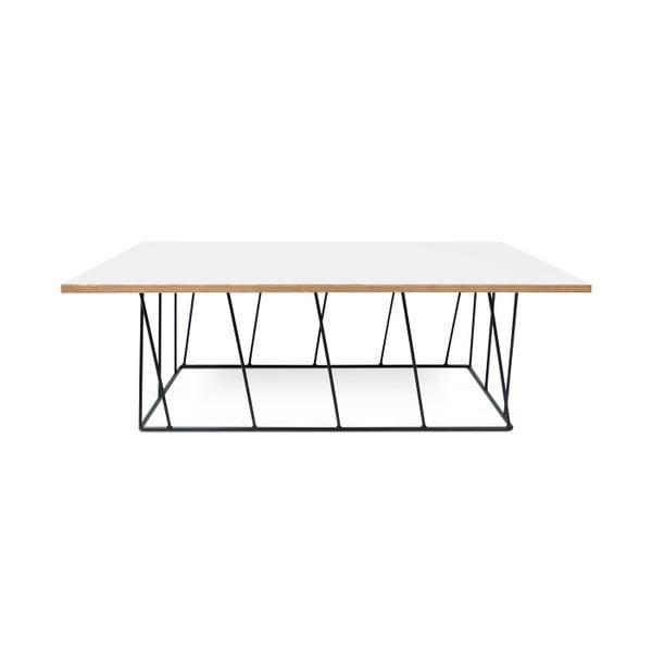 Biały stolik z czarnymi nogami TemaHome Helix, 120 cm