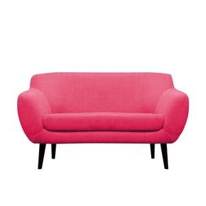 Różowa sofa dwuosobowa Mazzini Sofas Toscane