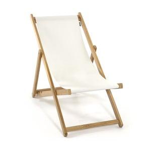Leżak składany Beach, biały
