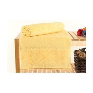 Zestaw 2 ręczników Meltem Yellow, 70x140 cm