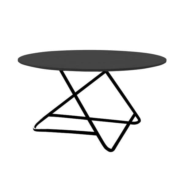 Czarny stół Softline Tribeca, Ø 75 cm